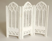 Folding Screen 1:12 scale (ready-assembled and painted white)