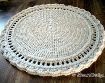 Crochet Placemat Pattern 154 Floral Style Placemat Crochet Patterns - Placemat Pattern - DIY Round Placemat - Doily Pattern - Home Decor