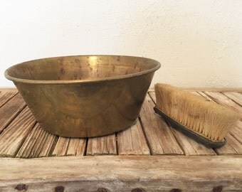 Vintage Aged Brass Pot Bucket
