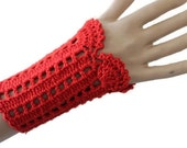 Stylish Handmade Cuff - Crocheted Lace Cuffs - Bracelet  -Romantic Gloves