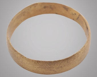 Ancient Viking Wedding Band Jewelry C.866-1067A.D. Size 13  (22.1mm)(Brr840)
