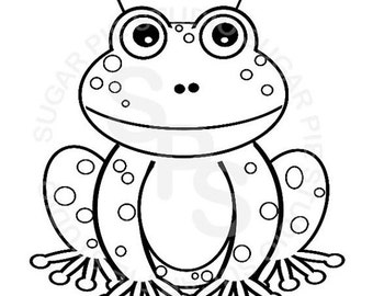 cute coloring pages of frogs | 25% OFF AUTUMN SALE Personalized Printable Spa by ...