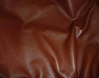 """Leather 12""""x12"""" KING Brandy full grain Cowhide 3-3.5oz/1.2-1.4 mm PeggySueAlso™ E2881-16"""