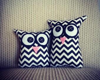Owl Softies   MiniMe Set   Black Chevron   Baby   Girls   Gifts