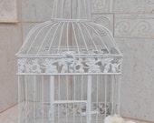 Large White Wedding Birdcage Card Holder / Wedding Card Box / DIY Wedding / Wedding Accessories / White Birdcage / Wedding Decor