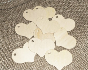 Wooden Heart Tags / Wooden Craft Hearts / Wooden Hearts / Wooden Heart Charms / DIY Wedding / Wedding Supplies / Wedding Crafts