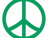 "Peace Sign Vinyl Decal Sticker - 2"" 3"" 4"" 5"" 6"" 7"" 8"" 9"""