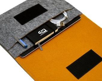 mini iPad Sleeve / mini iPad 4 Case / mini iPad Bag / iPad mini 4 cover - Gray & Fulvous - Weird.Old.Snail