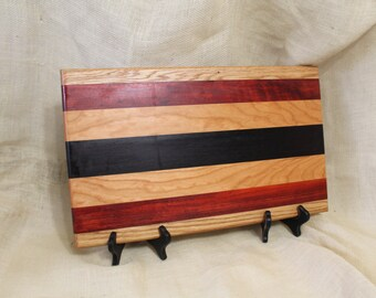 Oak, Padua, Cherry and Wenge Hardwood Cutting Board or Carving Board