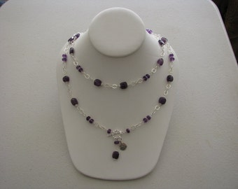 Amethyst & Sterling Silver Necklace