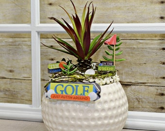 Floral Golf Arrangement , Home Decor , Arrangements , Sports Arrangement , Floral Arrangements , Nature , Golf , Summer , Home And Living