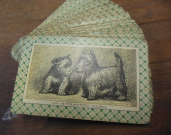 Set of 30 Scottie Dog Playing Cards 1940