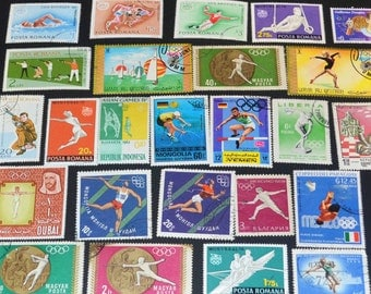 50 Sport Stamps from around the World