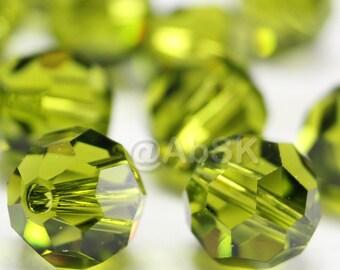 Promotion Item - 100 pcs Swarovski Elements 5000 5mm Crystal Round Beads - OLIVINE (While Stocks Last)