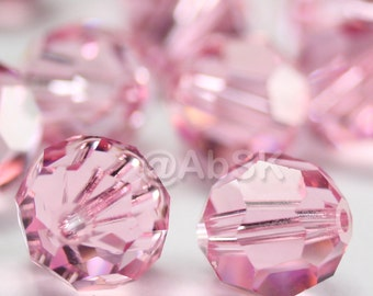 Promotion Item - 100 pcs Swarovski Elements 5000 5mm Crystal Round Beads - LIGHT ROSE (While Stocks Last)