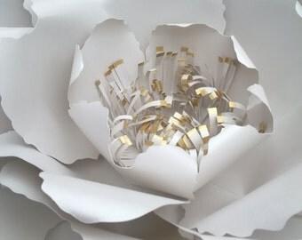 Paper wild flower, backdrop flower giant paper flower, wedding flower