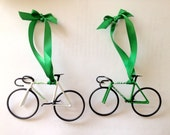 Hand-Painted Bike Ornaments, Set of Two