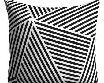 Nate Berkus Pillows, Couch Pillows, decorative pillows, Black Pillows, Black and white Throw Pillows