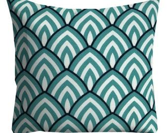 Aqua Outdoor Pillows, Outdoor Throw Pillows, Patio Pillows, aqua Pool Pillows, Pillow Covers, Outside Pillows, navy outdoor pillows