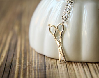 Silver Shears Necklace