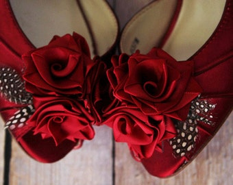 Wedding Shoes, Custom Wedding Shoes, Rose Wedding Flowers, Red Wedding Shoes, Wedding Shoe Ideas, Peep Toes, Kitten Heels, Wedding Shoe