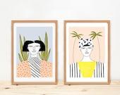 Prints by Depeapa - Women - illustrations - 8 x 11.5 - A4 -