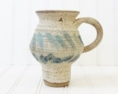 Vintage Pottery, Ceramic Vase, hand painted and signed