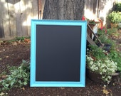 Large 16 x 20 Aqua Framed Shabby Chic Chalkboard/Blackboard for Wedding, Home, Office, Beach House