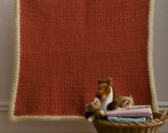 Everything's Peachy Baby Blanket - Crochet Pattern