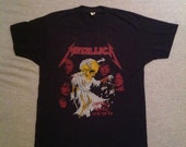 Vintage METALLICA DAMAGED JUSTICE Tour T Shirt 80s