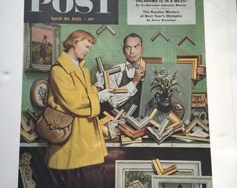 Vintage poster FRAME UP April 30, 1955  By Stevan Dohanos The Washington Post