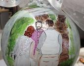 Custom wedding ornament for Cindy