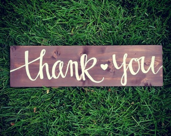Rustic Thank You Sign - photo prop - wedding-