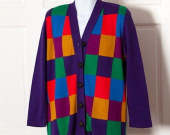 Colorful cardigan | Etsy