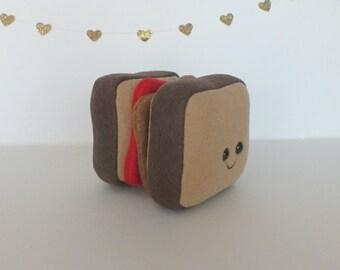 Peanut Butter and Jelly Sandwich Mini Plush - Strawberry