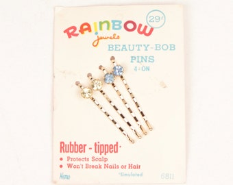 vintage bobby pins // package of four // rhinestones