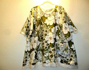 Hand made cotton dress tunic top