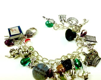 Alice in Wonderland Crystal Fairytale Charm Bracelet