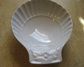 Pillivuyt France Porcelain Shell or Clam Shaped Dish or Bowl