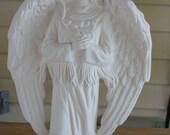 Ceramic Bisque Standing Indian Angel