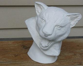 Ceramic Bisque Mountain Lion