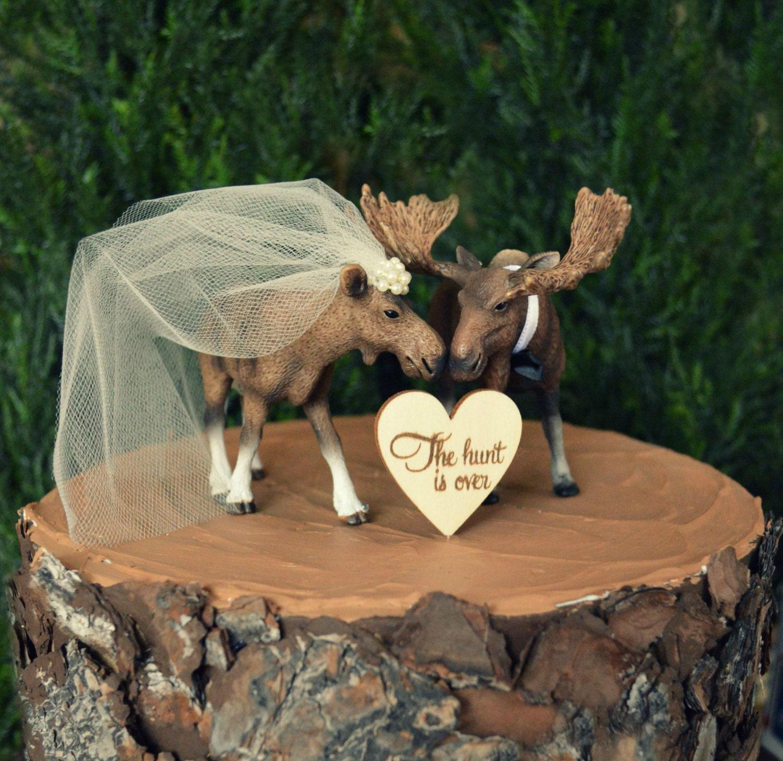 Moose Alaska wedding cake topper Moose lover Moose