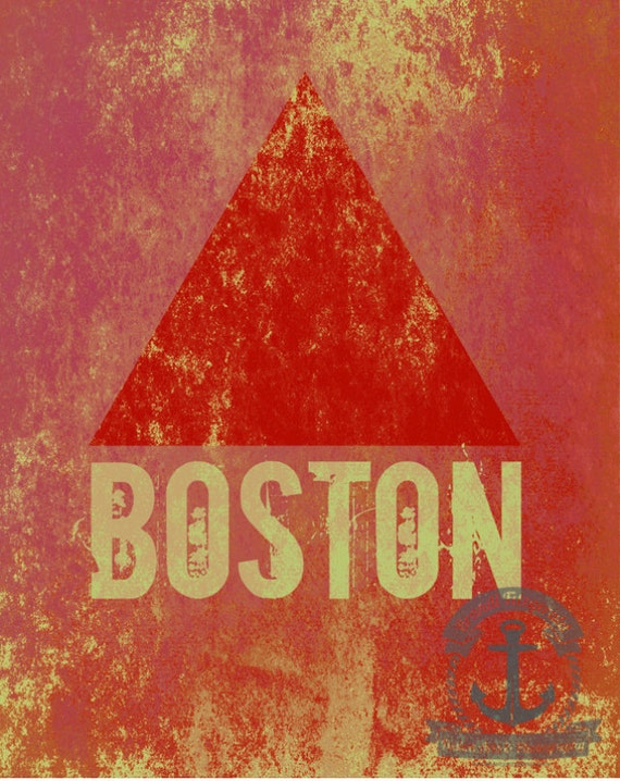 Boston's Famous Triangle  Vintage Rugged Historic Fenway Park Citgo Sign Product Options and Pricing via Dropdown Menu