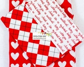 VALENTINE SALE Valentines Hearts on Red Pillow Case Kits