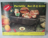 Portable Bar-B-Q Grill, Vintage 1985, In Original Box, Never Opened, Folding, Compact, Streamlined when Stored, Camping Outdoor Cooking