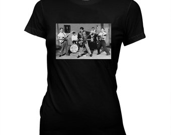 Gene Vincent and His Blue Caps - Women's Hand screened, Pre-shrunk 100% cotton t-shirt