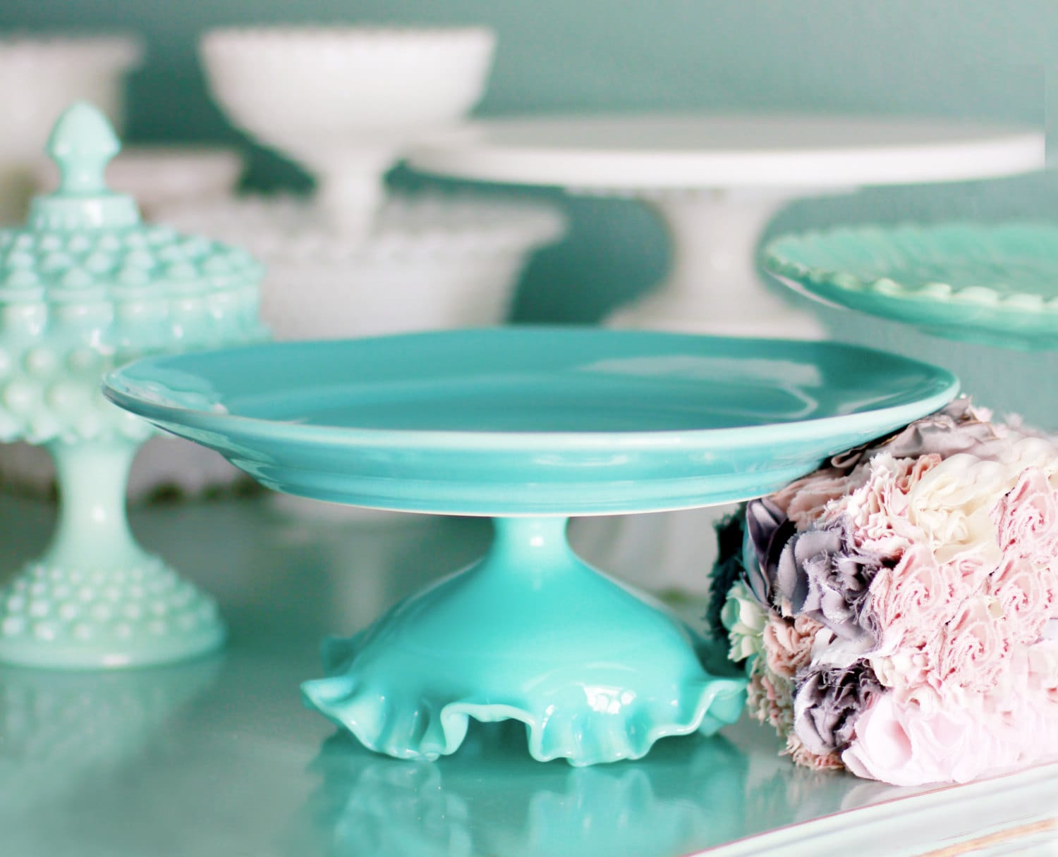 beach theme wedding cake stand turquoise cake stand for weddings theme dessert 11166