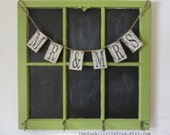 Mr & Mrs, Hanging Wooden Banner Rustic Aged Handpainted on Reclaimed Wood, By TheFunkiLittleFrog