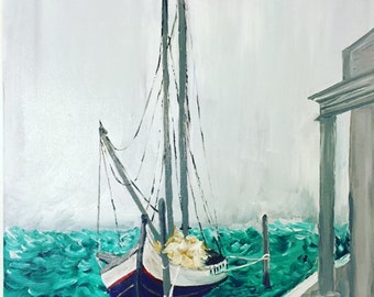 Sail away- acrylic painting