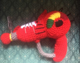 Call of Duty Zombie Ray Gun Crocheted replica